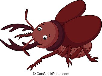 Cartoon funny beetle
