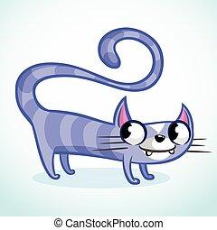 Cartoon funny cat illustration