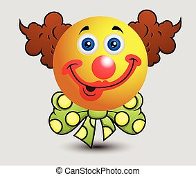 Cartoon Funny Clown Emoji Smiley Emoticon