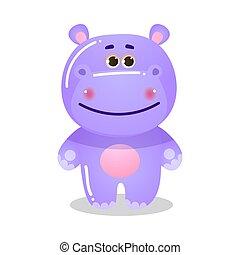 Cartoon funny cute teddy bear child vector illustration