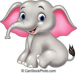 Cartoon funny elephant