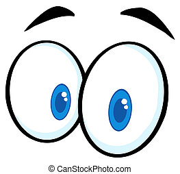 Cartoon Funny Eyes - Pair Of Surprised Eyes Illustration