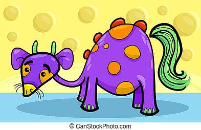 cartoon funny fantasy creature - Cartoon Illustration of...