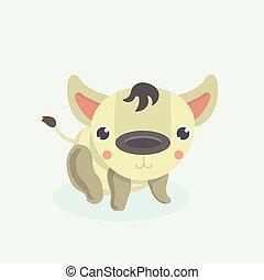 Cartoon funny hyena.