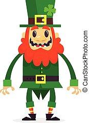 Cartoon funny Leprechaun. Vector illustration