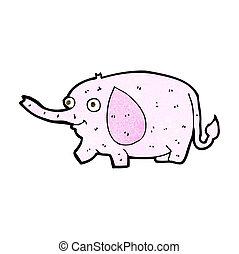 cartoon funny little elephant