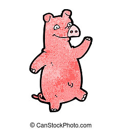 cartoon funny pig