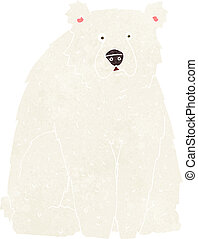 cartoon funny polar bear