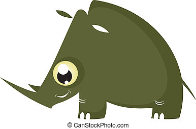 Cartoon funny rhinoceros