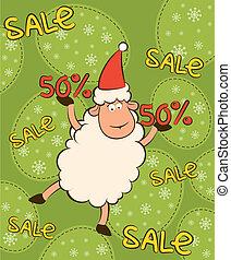 Cartoon funny sheep and sales.