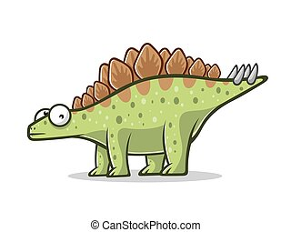 Cartoon Funny Stegosaurus