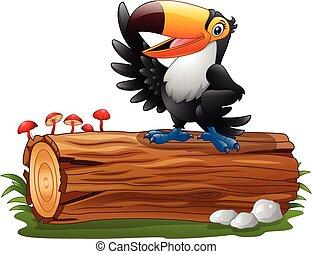 Cartoon funny toucan - Vector illustration of Cartoon funny...