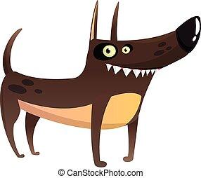 Cartoon Funny Watchdog Vector Illustration.