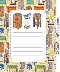 cartoon furniture card