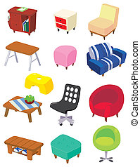 cartoon Furniture icon  - cartoon Furniture icon
