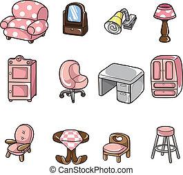 cartoon furniture icon