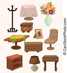 cartoon, furniture, iconerne