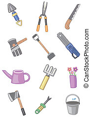cartoon gardening icon  - cartoon gardening icon