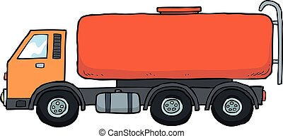 Cartoon gasoline tanker