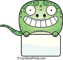Cartoon Gecko Sign