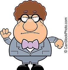 Cartoon Geek Grumpy