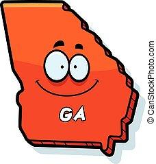 Cartoon Georgia - A cartoon illustration of the state of...