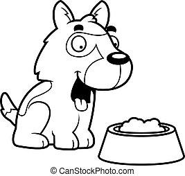 Cartoon German Shepherd Food