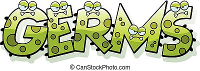 Cartoon Germs Text - A cartoon illustration of the text...