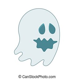 cartoon ghost halloween