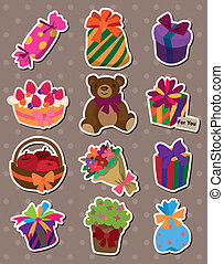 cartoon gift stickers