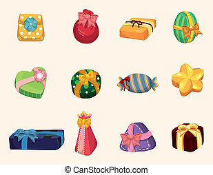 cartoon gifts icon
