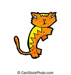 cartoon ginger cat