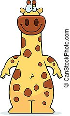 Cartoon Giraffe Smiling