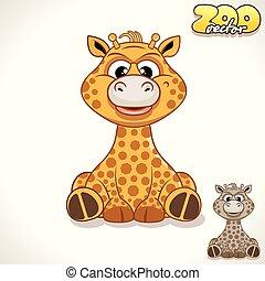 Cartoon Giraffe. Vector Character