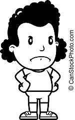 Cartoon Girl Angry