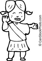 cartoon girl guide