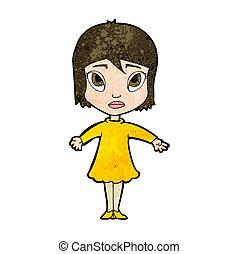 cartoon girl in dress