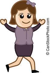 Cartoon Girl Running