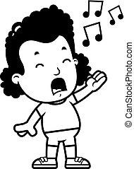 Cartoon Girl Singing