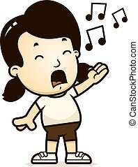 Cartoon Girl Singing