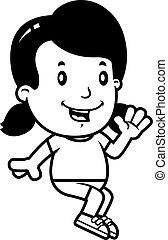 Cartoon Girl Sitting