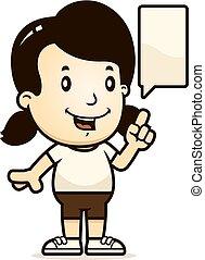 Cartoon Girl Talking