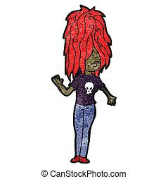 cartoon girl with red hair