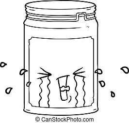 cartoon glass jar