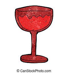 cartoon glass of red wine