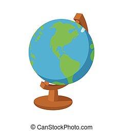 cartoon globe icon