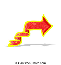 cartoon glowing arrow