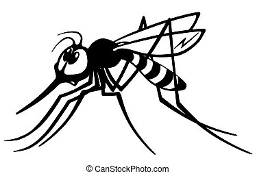 cartoon gnat black white