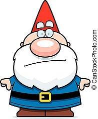 Cartoon Gnome Bored - A cartoon illustration of a gnome...