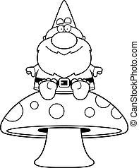 Cartoon Gnome Mushroom